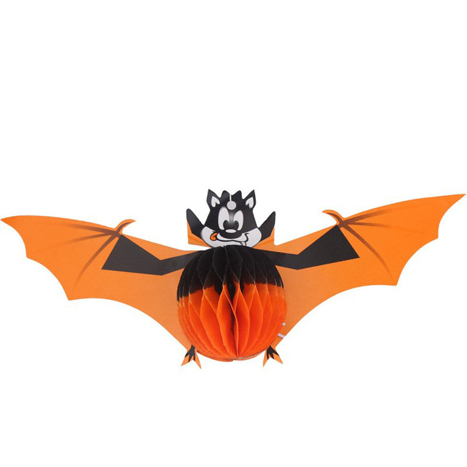 2016 New Bat Witch Spider Hanging Lanterns Paper Bar Prank Trick Prop Party Decor Supplies Halloween Props