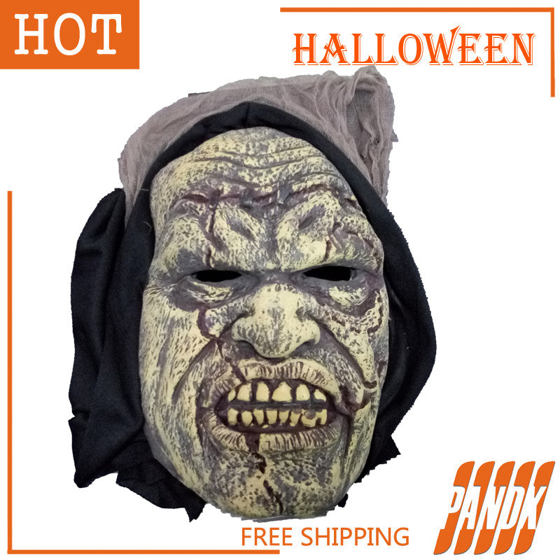 Face Mask Scary Halloween Mask Zombie Halloween Props Ghost Halloween Decorations party dress holiday supplies Free shipping