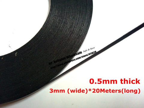 (0.5mm Thick), 20M/Roll, 3mm Wide Double Sided Adhesive Black Foam Sponge Tape for Phone Samsung HTC Screen Dust Proof Sealing - Blobimports.com