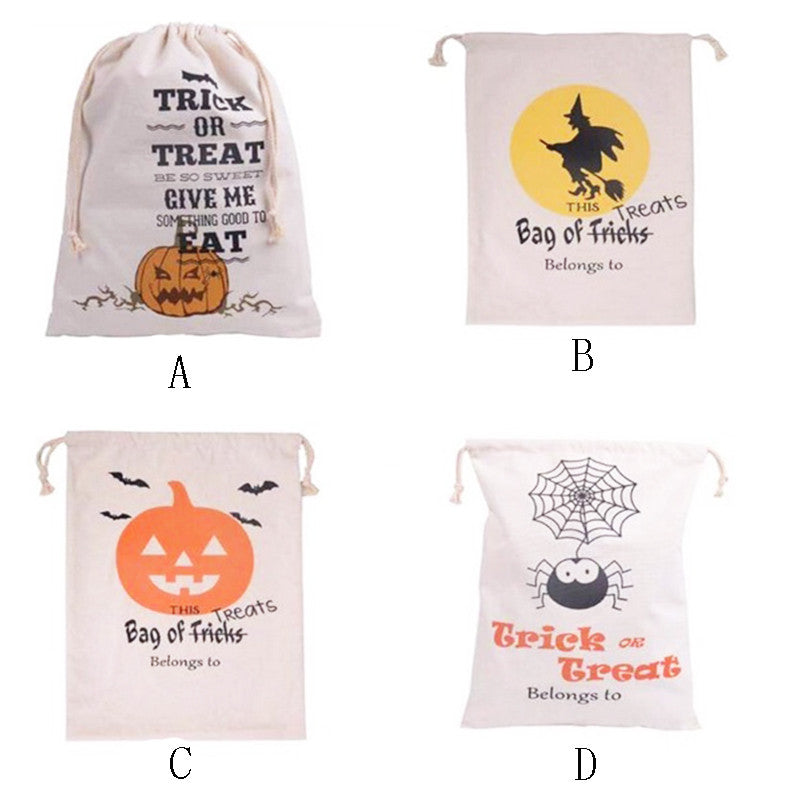 100% Cotton Canvas Halloween Sack Halloween Gifts bags - Blobimports.com