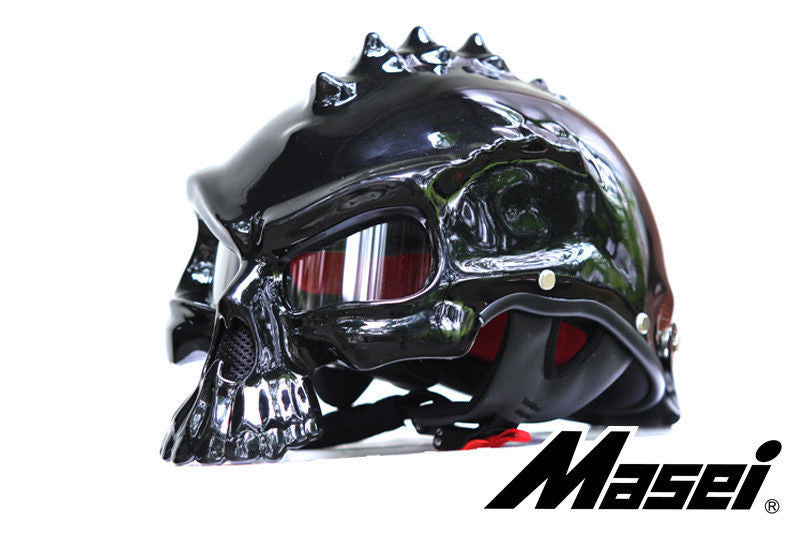 masei Newest Dual Use Skull Motorcycle Helmet Capacetes Casco Novelty Retro Casque Motorbike Half Face Helmet free shipping