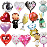 1 piece small Ring balloons party balloons wedding balloons wholesale38*27cm ring balloons(not include the stander) - Blobimports.com
