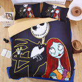SaLin Free Shipping Nightmare Before Christmas Bedding Set Kids Children Duvet Cover Boys Girls Bed Set Twin Full Queen KingSize