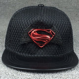 New Fashion Summer Brand Superman Bat Baseball Cap Hat For Men Women Teens Casual Bone Hip Hop Snapback Caps Mesh Sun Hats