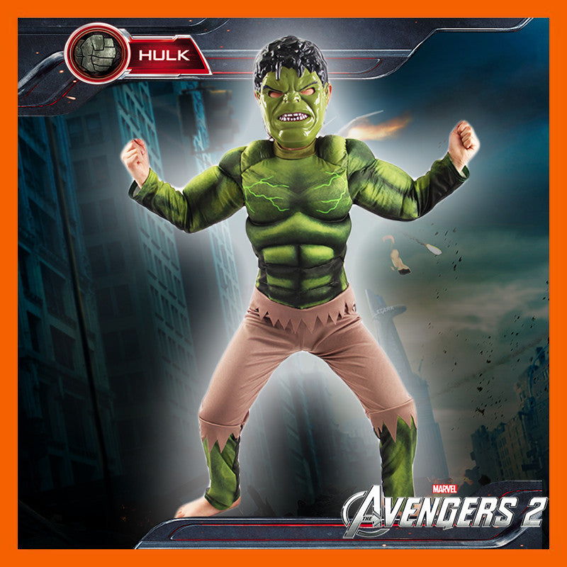 New Arrival The Avengers Cosplay The Hulk(comics) green giant costume set Halloween Fancy for adults/kids for party/ christmas