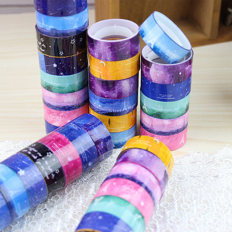 1.5cm2m DIY Color Tape Decoration Roll DIY Washi Decorative Sticky Paper Masking Self Adhesive Scrapbook Tape - Blobimports.com