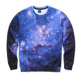 New 2016 Men Women's 3D Animal Milky Way Stars Printed Hoodies Space Galaxy Casual Sweaters Brand Space Galaxy Sweatshirts Tops
