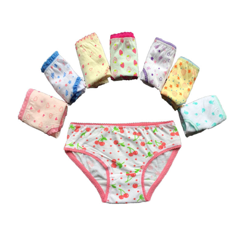 Hot sale 3 pcs/lot baby kids girls underwear briefs panties short colorful panties children cotton briefs