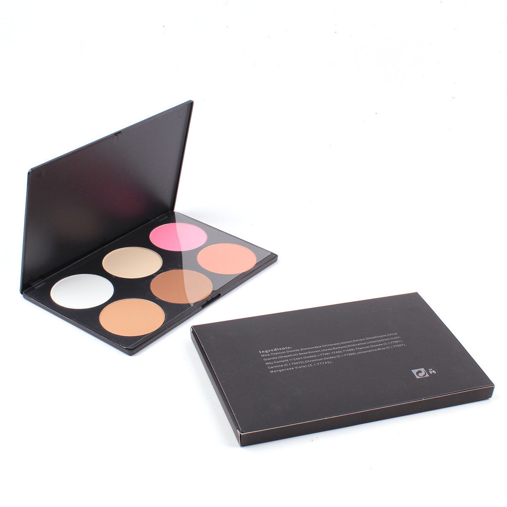 Pro 6 Color Makeup Blush Face Blusher Powder Palette for mac Blush Contour Concealer Powder 2# Free Shipping