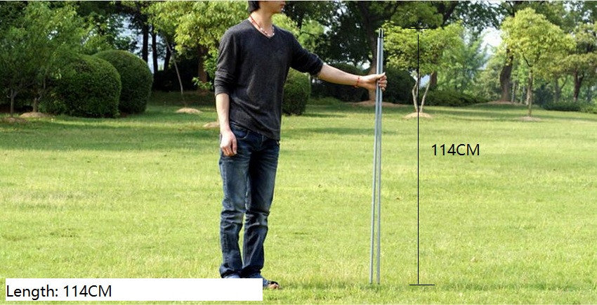 114CM * 2 roots. Tent poles, tents extending door frame, canopy rod, galvanized iron   Tent Accessories