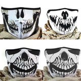 Multifunction Cosplay Bike Skeleton Mask Costume Halloween CS Mask Cycling Motorcycle Paintball Half Face Mask Winter