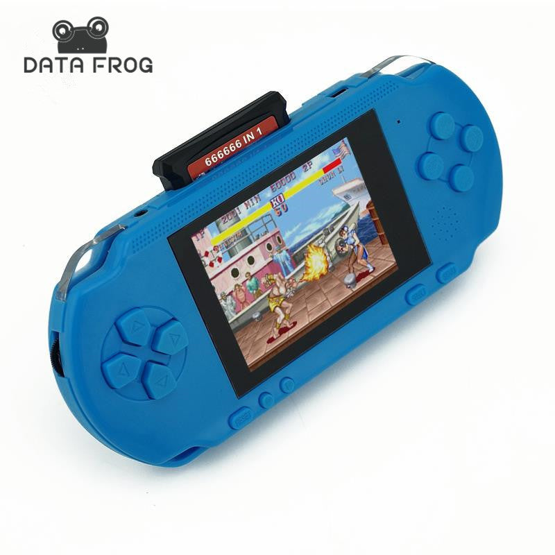 3 Inch 16 Bit PXP3 Slim Station Video Games Player Handheld Game +Free Game Card Console built-in 999999 Classic Games New 2016