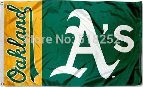 MLB Oakland Athletics Flag 3x5 FT 150X90CM Banner 100D Polyester flag 1073, free shipping
