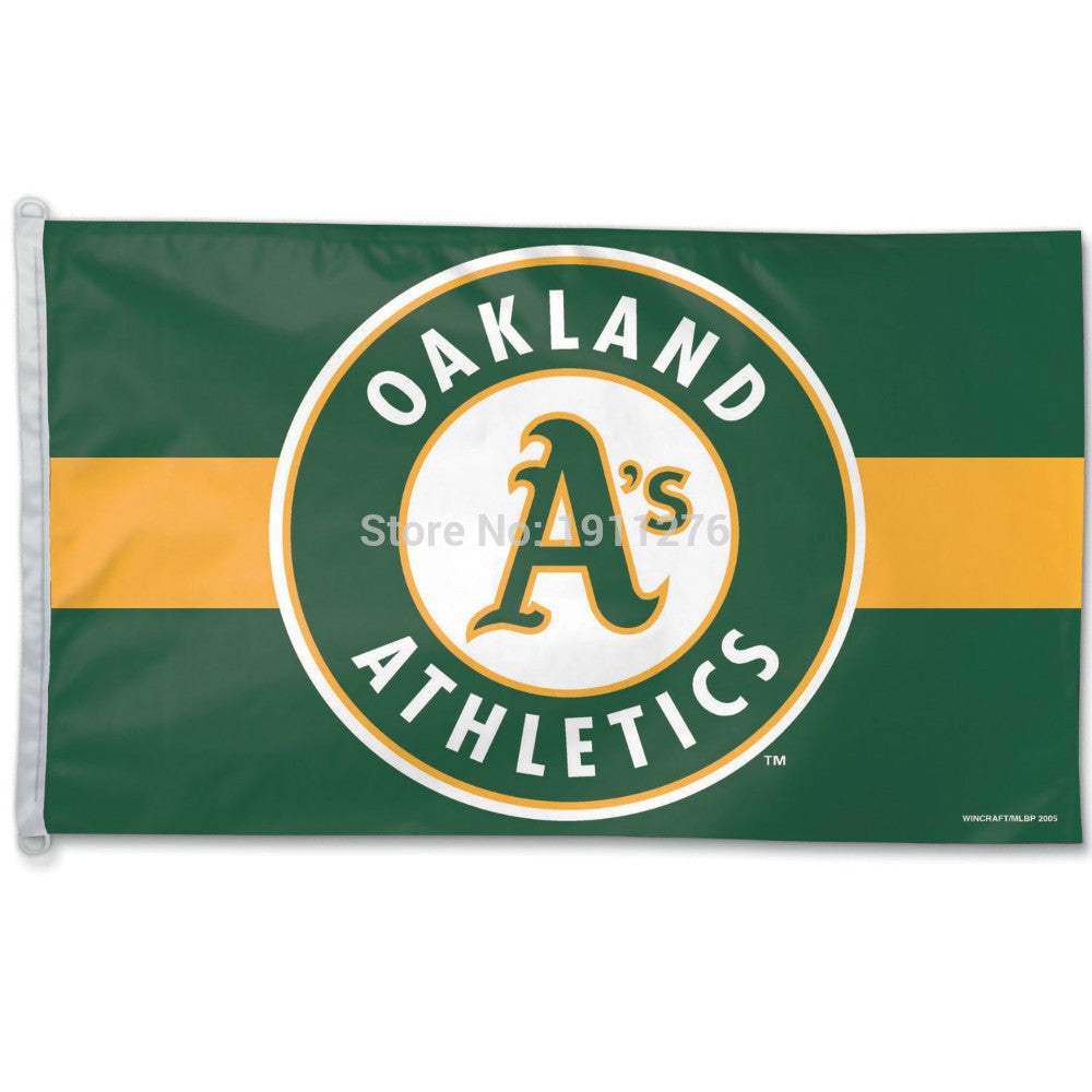 Oakland Athletics Flag 3' x 5' FT MLB Banner brass metal holes Flag  Size No.4 144* 96cm Custom flag