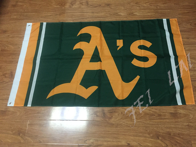 Oakland Athletics flag 3ftx5ft Banner 100D Polyester Flag metal Grommets