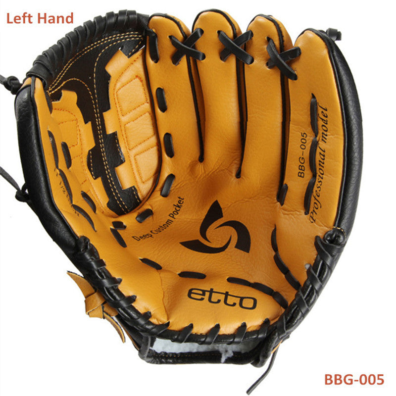 Etto BBG-005 General Baseball Glove Softball Glove Size 11.5/12.5Left Hand for Adult Man Woman Training