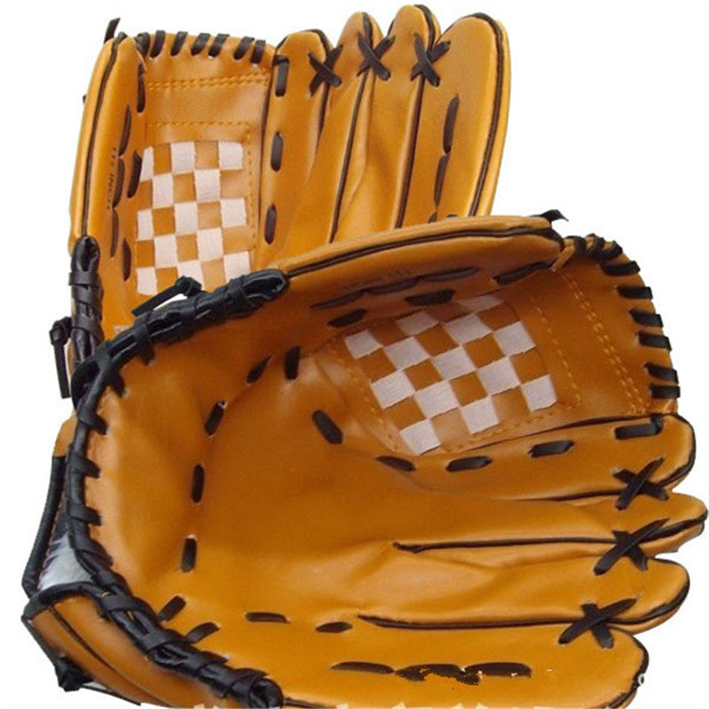 Portable Baseball Gloves Durable Men 1 0.5-inch Softball Baseball Glove Black  Brown Wholesale