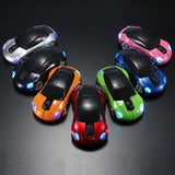 Racing car 2.4Ghz 1600DPI 10m Wireless Car Shape Colorful USB LED Optical Mouse Mice For PC Laptop Note book Free Shipping