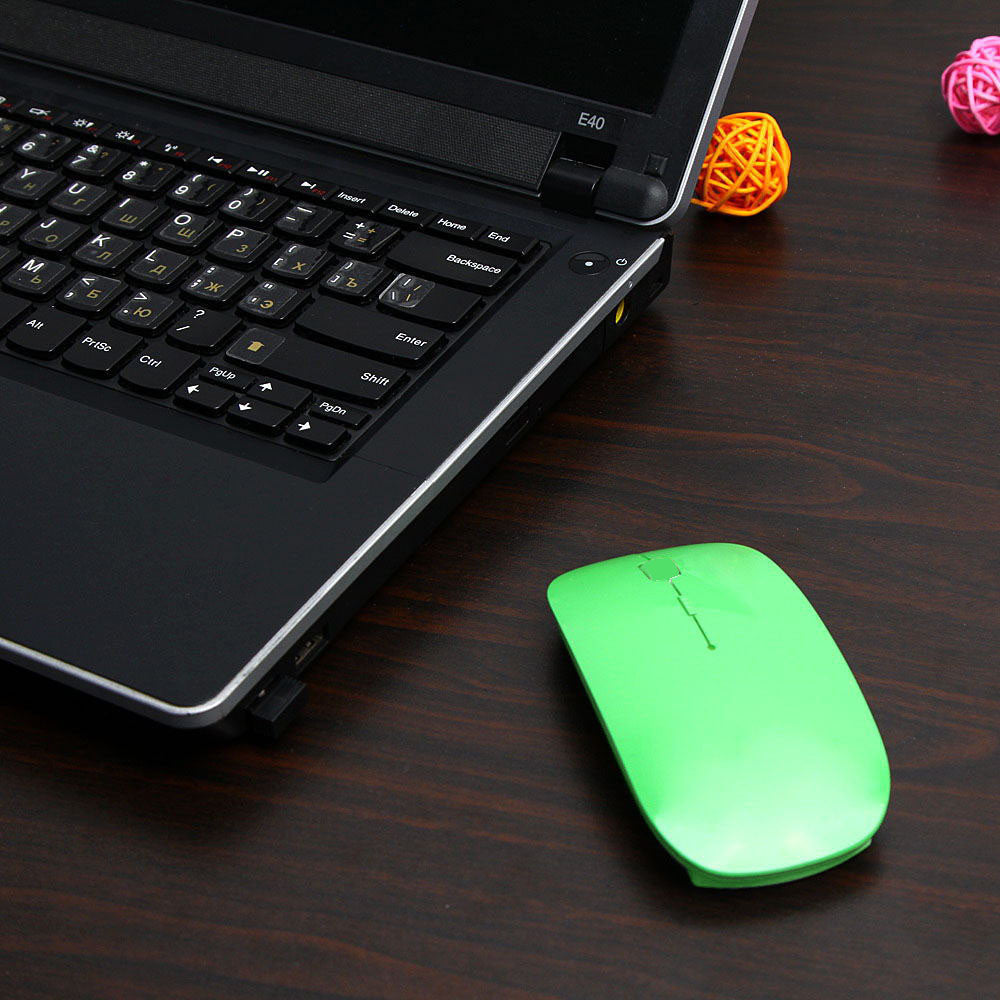 Sugar Color Ultra Thin USB Optical Wireless Mouse 2.4G Receiver Super Slim Mouse For Computer PC Laptop Desktop