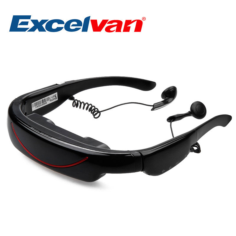Excelvan 72 Inch Virtual Digital Portable Video Glasses Personal Theater Widescreen for TV BOX/ PSP Visual Feast for Show Video