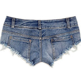 Hot Sexy Women Jean Denim Booty Shorts Feminino Low Rise Waist Micro Mini Short Erotic Women Clothing Bottom /DI-241