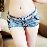 2016 new woman summer woman hollow out denim hotpants female sexy jeans booty hot shorts ripped femme micro mini shorts