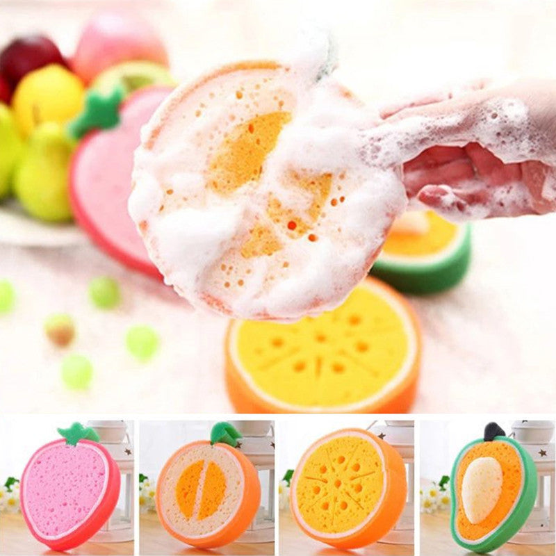 1 pcs Lovely Fruit Shape Dish Washing Cleaning Cloth cleaning Sponge thick sponge Gadget cleaner hot Kitchen Tool S2 - Blobimports.com