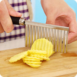Hot Sales Stainless Steel Potato Edged Vegetable Crinkle Wavy Slicer Knife fruit Cutting Peeler Kitchen Gadget