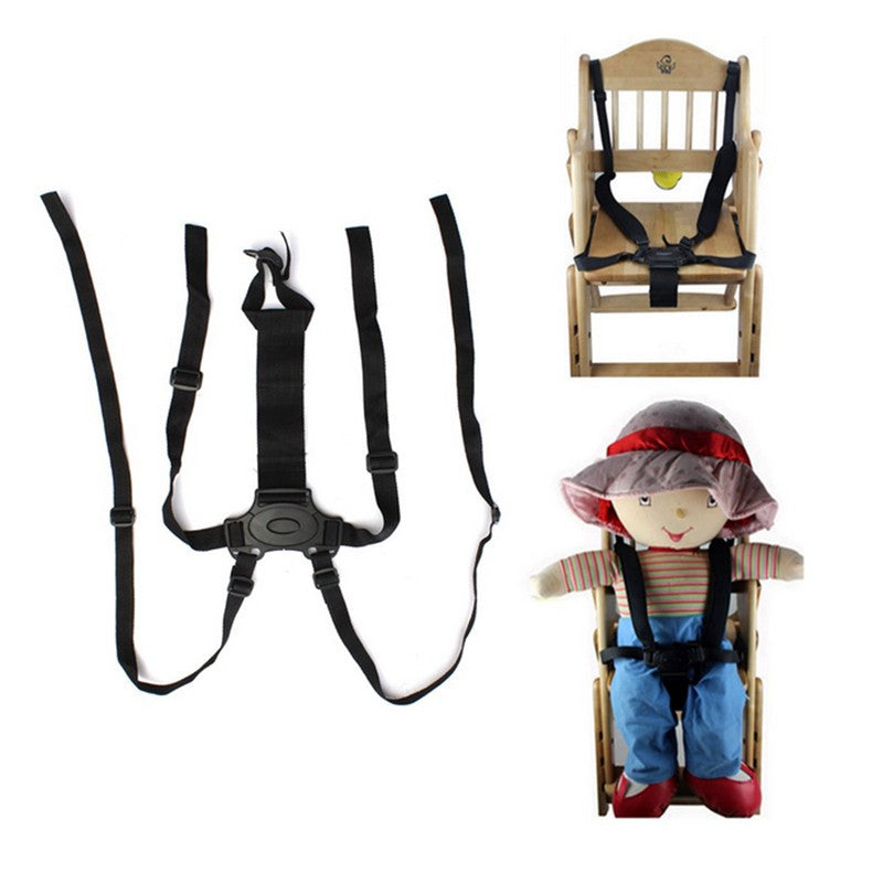 New Convenient 5-Point Durable Black Harness Strap Baby Chair Stroller Pram Buggy Safe Belt Children Security