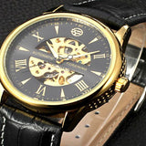 original FORSINING Leather Relogio masculinos top Brand watches men luxury brand Automatic mens wristwatch