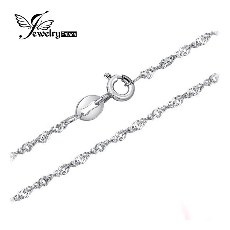 Feelcolor New Singapore Rope Chain Necklace Only Send With Our Pendant Pure 925 Solid Sterling Silver 1.8 2.3mm 16 18 Inch