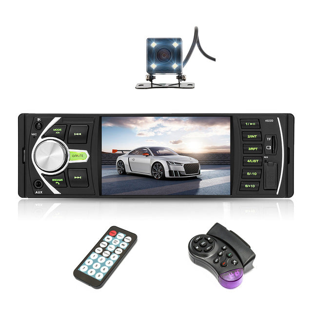 4022D 4.1 inch 1 Din Car Radio Auto Audio Stereo autoradio Bluetooth Support Rear View Camera USB Steering Wheel Remote Control