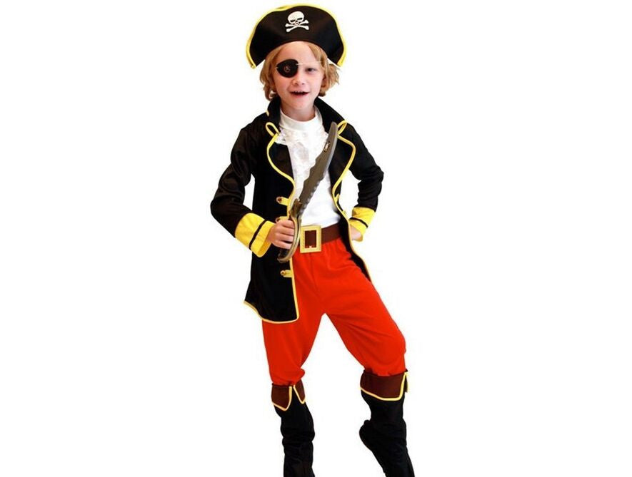 Free Shipping Party Supplies Pirate Capain Jack Cosplay Boy girl Clothing Halloween Costume For Kids Children Christmas Costume