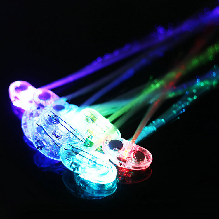 10pcs Bar hanging Flash LED Hair Braid Haripin Halloween Christmas Party Decoration Club 2014 New