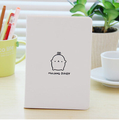 2017-2018 Cute Kawaii Notebook Cartoon Molang Rabbit Journal  Diary Planner Notepad for Kids Gift Korean Stationery