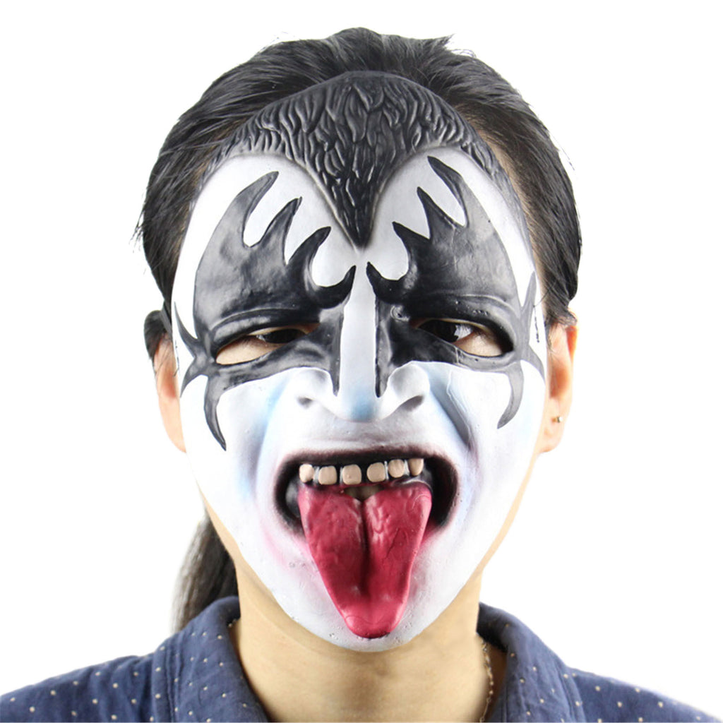 Halloween Scary Mask Long Tongue Zombie Clown Latex Masks Vampire Cosplay Costume For Party Fool's Day NEW