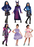 Free shipping,halloween party Second generation descendants Mal princess dress  queen costume clothing
