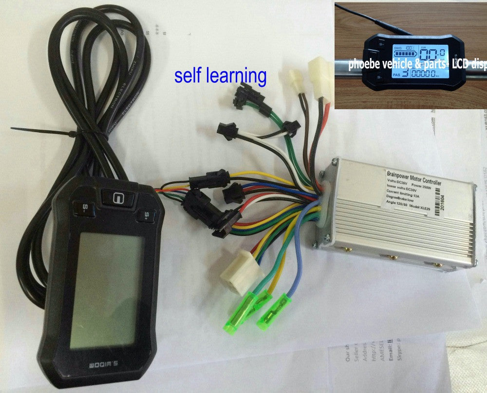 electric scooter LCD display & controller 24v36v48v 250w350w conrtrol panel sensor hall sensorless ebike tricycle scooter parts