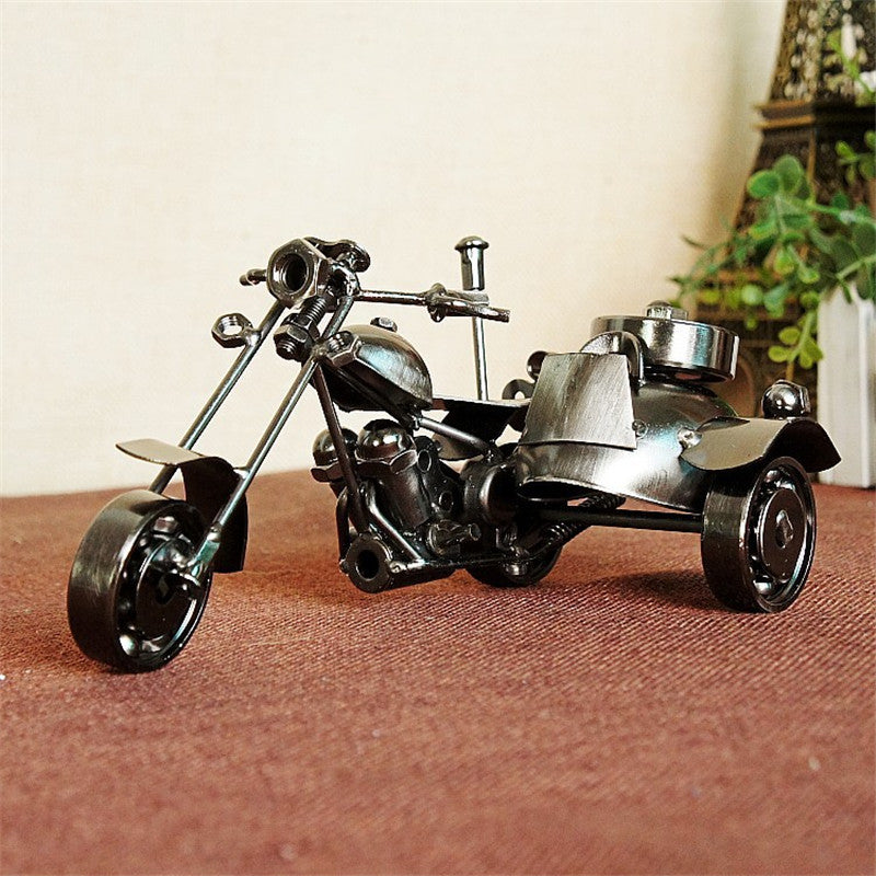 2016 Iron Tricycle Vintage Harley Motorcycle Model Handmade Toys Home Decor Birthday Gift Metal Craft Decoration