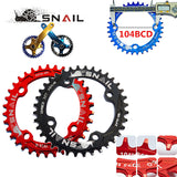 SNAIL bicycle mountain bike mtb Oval and Round crankset Chainring Chainwheel 32T 34T 36T  Aluminum BCD104 Gear