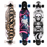 New 41'' Professional Print Wood Long board flat-plate Speed Skateboard Complete for Adult Kids Outdoor Sport Scooter