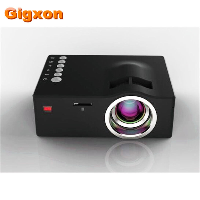 Gigxon - G18 Mini LCD 320*180 Support 1080P video portable projectors with HDMI TF Card USB CVBS LED for Home theater Cinema
