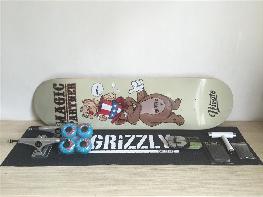 Complete Skateboard Set Private Boards Union Trucks Girl Sweet Pretty Wheels & Bro Style Bearings with Skate Board Accessories