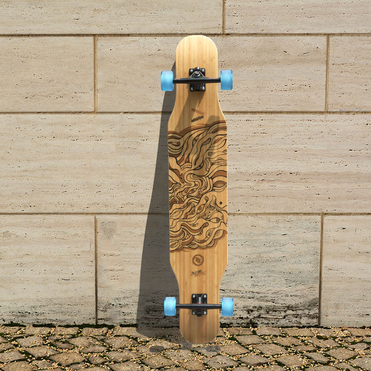KOSTON  pro quality dancing style longboard completes  with hybrid material,46inch skateboard completed set for board walking
