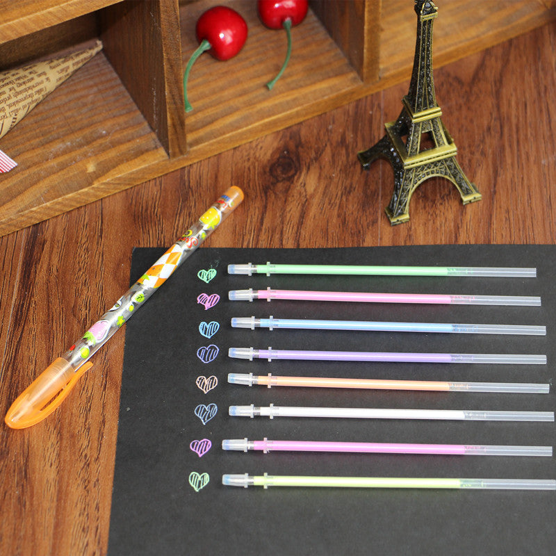 One Set DIY Cute Kawaii Water Color Chalk Paint Gel Pen For Kids Diary  Album Decoration Scrapbooking Stationery School Suplies