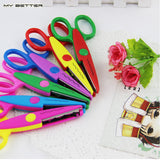 Kids Laciness Scissors for DIY Photo Album Handmade, 6 Patterns Photo Album Card Photo Diary Decorative  Laciness Scissors