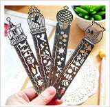 1 pcs Creative Metal Straight Ruler Bookmark Hollow Ultra-thin Rulers Korea Stationery Office School Supplie OS002 - Blobimports.com