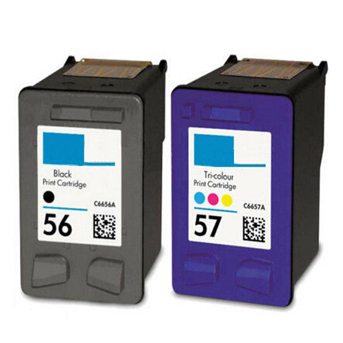 C6656A C6657A for hp printer ink cartridge for hp 56 57 hp56 hp57 Deskjet 450 450cbi 450ci 450wbt F4140 F4180 5150 5550...(1set)