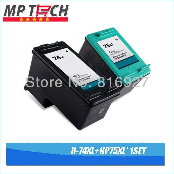 CB335WN CB337WN Compatible For hp 74 75 XL Ink Cartridge For hp Photosmart C4200 C4280 C4345 C4380 C4385 C4480 C4580 printers