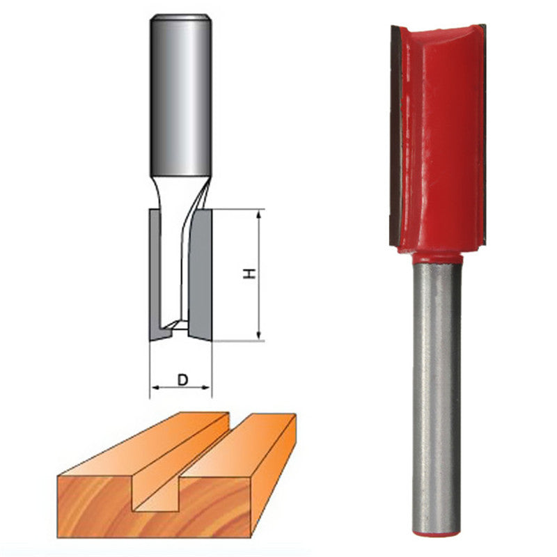 1PC Durable High Power 1/8,5/32,3/16,1/4,5/16,3/8,1/2 TCT Straight Carving Cutter Router Bit 7 Sizes For Choices 1 and 2 Flute